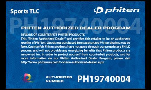 Sportstlc phiten authorized dealer certificate sportstlc authorized phiten dealer thecheapjerseys Image collections